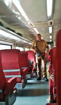 Die Sicherheit im Zug ist gewährleistet