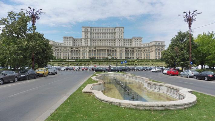 Das Parlamentsgebäude in Bukarest