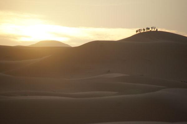Sonnenaufgang am Erg Chebbi