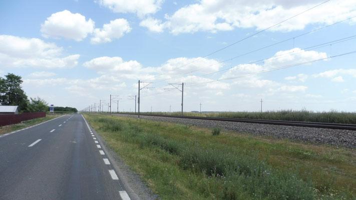 Die Bahnlinie nach Constanta