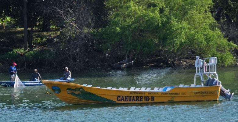 ... nach Chiapa de Corzo, wo wir den gemählichen Fischern zuschauen.