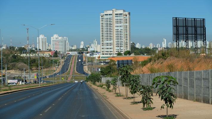 Cuiaba auf der Karte, sieht es richtig niedlich aus