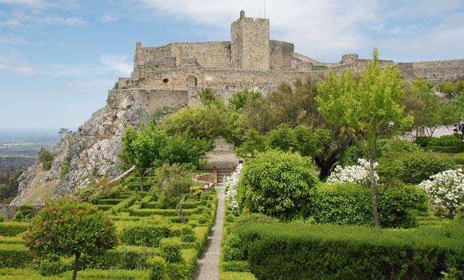 Klein aber fein die Gartenanlage bei der Festung