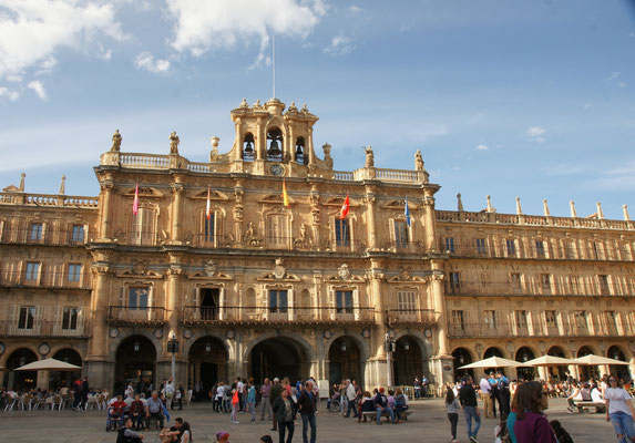Der Hauptplatz in Salamanca