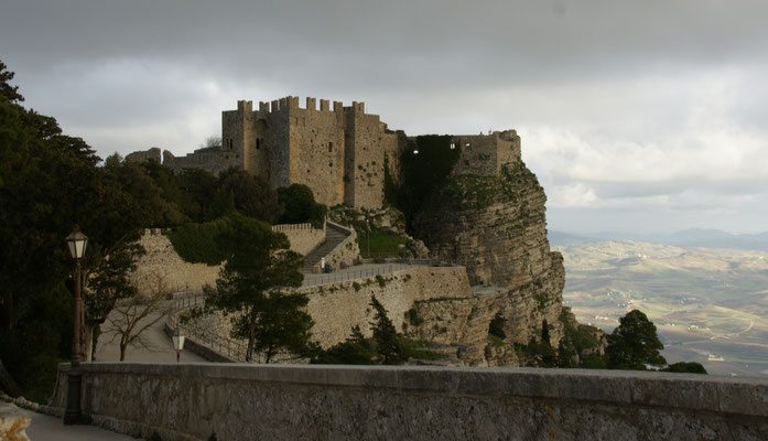 Trotziges Castell in Erice