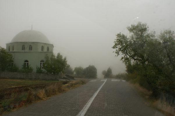 Nebel bei der Abfahrt
