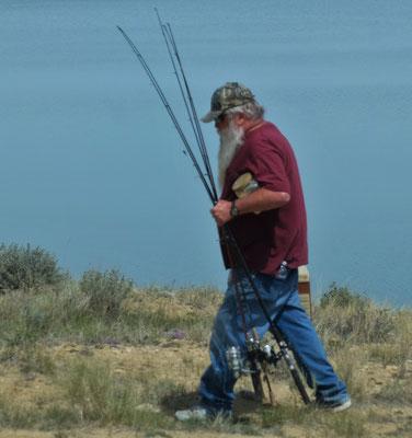 Die Fischer machen reiche Beute, leider kann man das hier nicht sehen