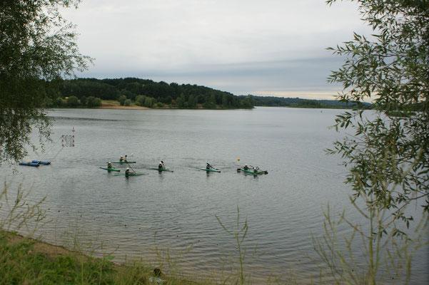 Direkt am  Kaunasser Meer der natürlich ein See ist liegt der Campingplatz