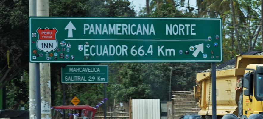 Wir bleiben auf der Panamericana und nehmen den Grenzübergang in Tumbes