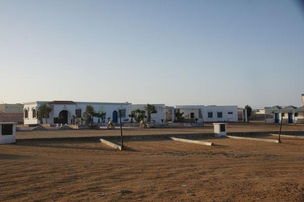 Der Campingplatz. Nur vier Womos teilen mit uns den Platz