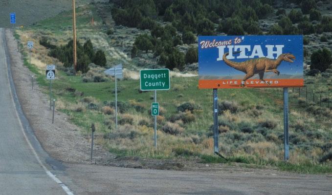 Dann sind wir wieder in Utah...