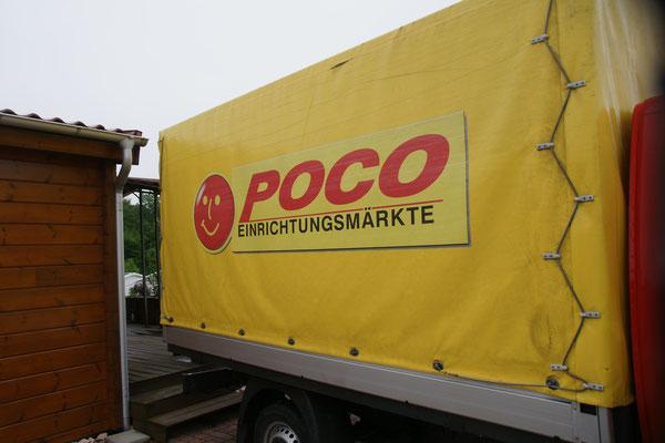 Laden die Polstergruppe ein und auf dem Camping Orsingen-Nenzingen wieder aus.