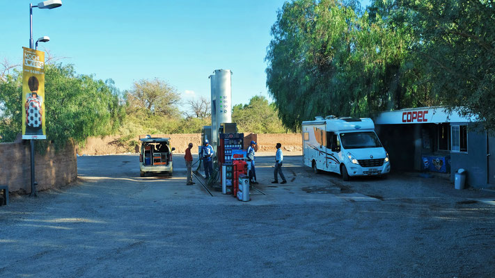 Die Tankstelle mitten in San Pedro de Atacama