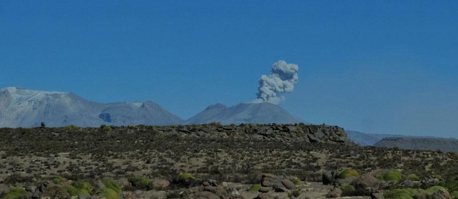 Den Ubinas Vulkan sehen wir nun von der Hinterseite