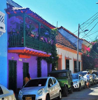 Die Altstadt von Cartagena mit den farbigen Kolonialhäusern