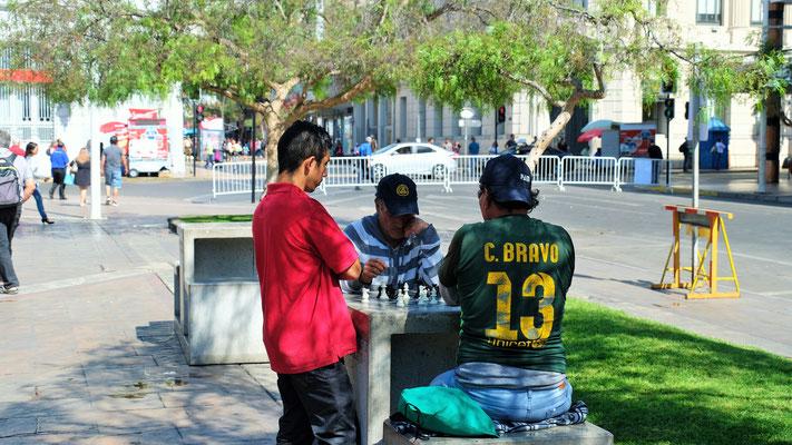 gemütliches Spiel beim Park