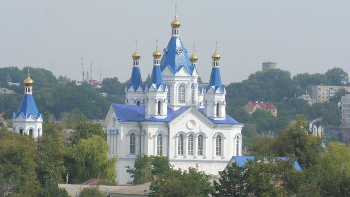 Von der Festung guter Blick auf die Kirche