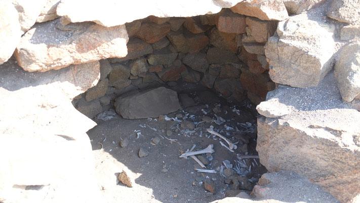 ... Gräber, in denen die ausgebleichten Knochen der Verblichenen rumliegen