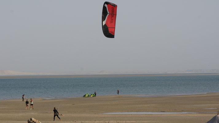 Ein bisschen Wind gibt es schon noch auf der Halbinsel Dakhla