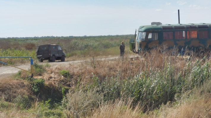 Landarbeiter im ukrainischen Donaudelta