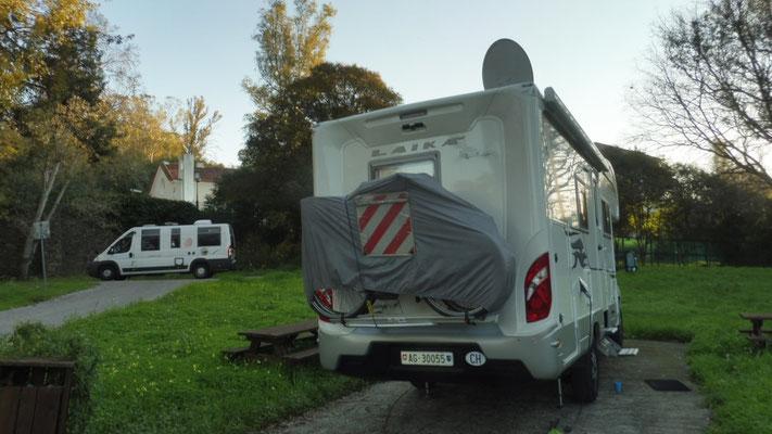 Der Campingplatz in Lissabon