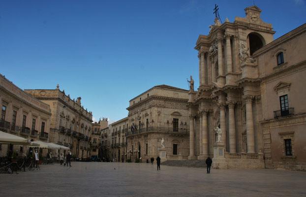 Piazza di Duomo auf der Halbinsel Ortigia/ Siracusa
