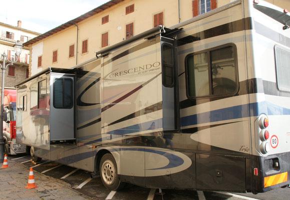 Hier wohnt wohl der Star des Films. Natürlich direkt oben in Volterra