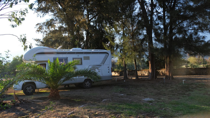 ...zum Campingplatz Roque Azul am Lago de Chapala....