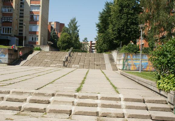 Schon etwas in die Jahre gekommene Treppen