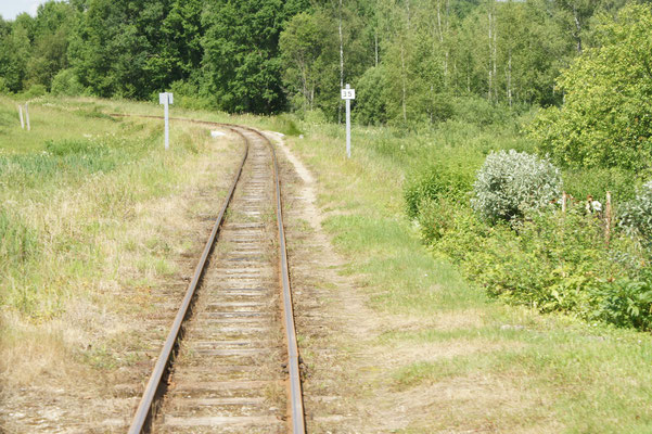 Schmalspurbahnspur Gulbane - Alküksne