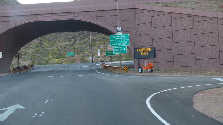 Strasse zum Hoover Damm gesperrt