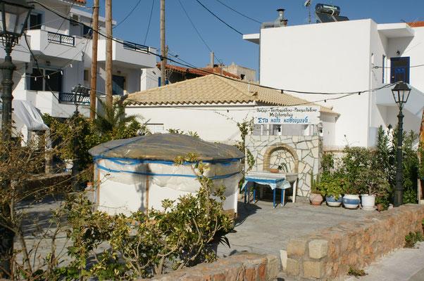 Der Dorfplatz von Elafonisos