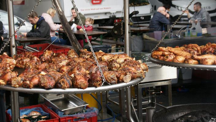 Deutschland ist vertreten mit viel Fleisch