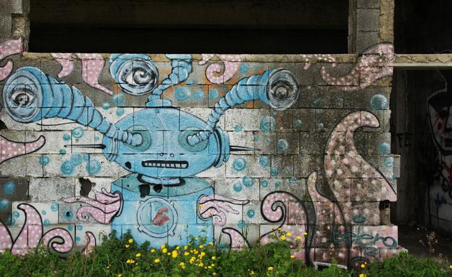Kunst an der Ruine