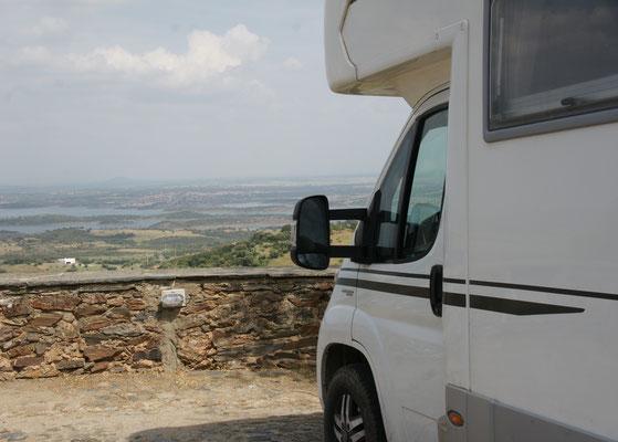 Unsere Aussicht vom Stellplatz bei Monsaraz