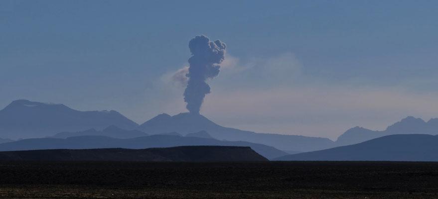 Der  Vulkan Ubinas ging vor ein paar Wochen los und die Aschewolke erreichte sogar Boliviens Norden.