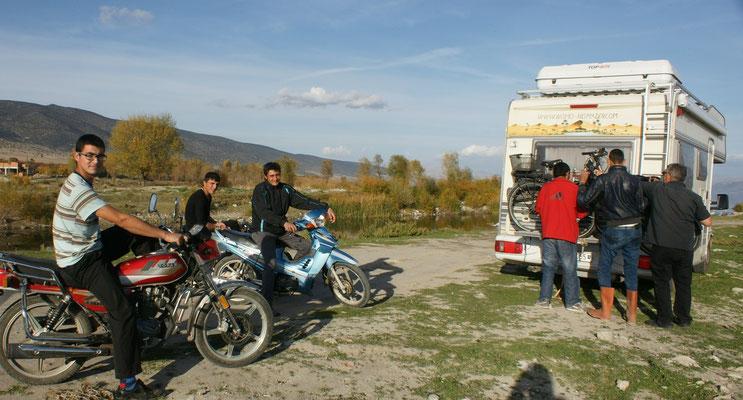 Die nichtmotorisierte Jugend interessiert sich für unsere Räder