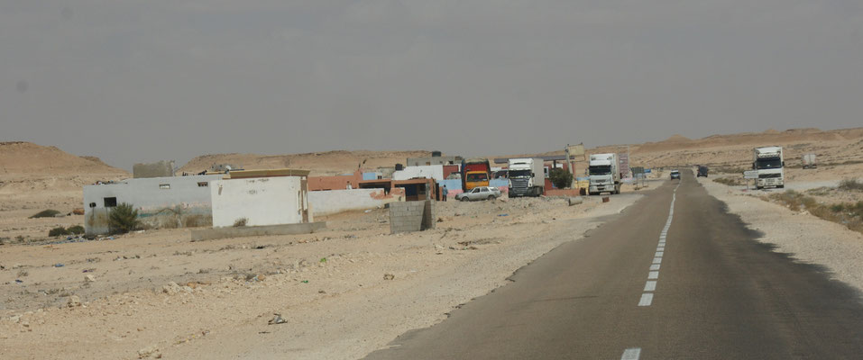 Truckerkneipe in der Westsahara