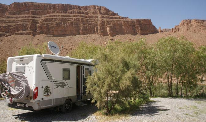Hier auf dem Campingplatz Jurassique standen wir bereits im November 2012