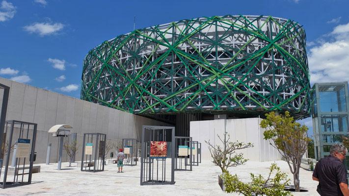 Das grosse Mayamuseum hat wegen Corona die Pforten geschlossen.