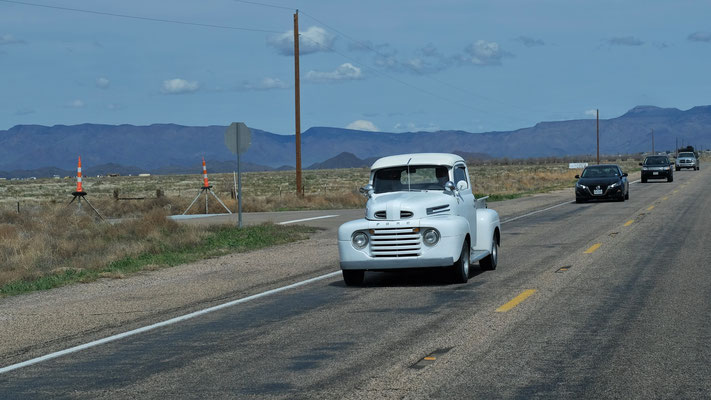 Es sind auf der Route 66 auch einige Oldtimer noch unterwegs.