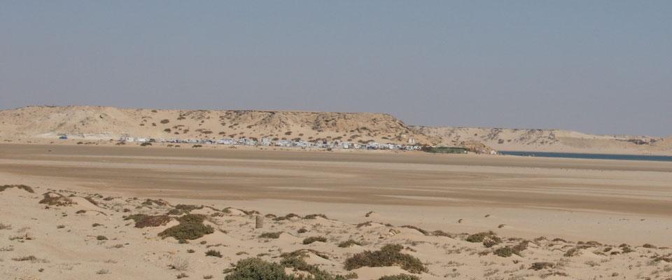 Die Campersiedlung am km 25 vor Dakhla