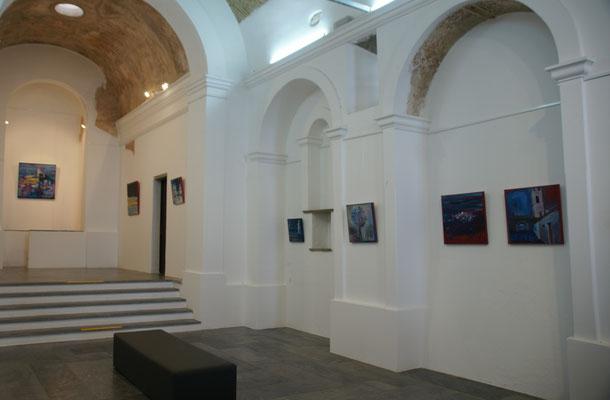 Die ehemalige kleine Kirche in Monsaraz dient jetzt als Galerie.