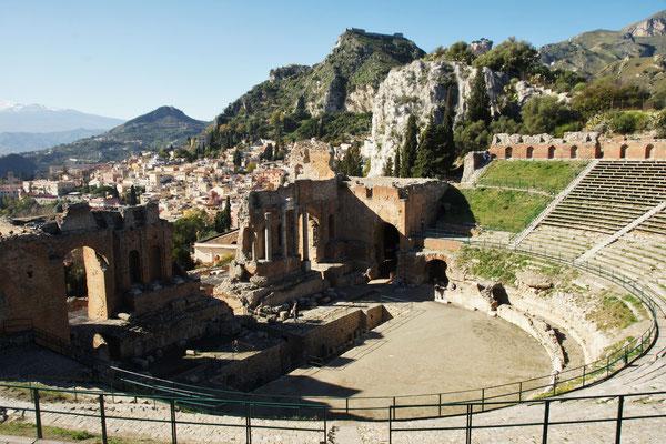 Das griechische Theater in Taormina
