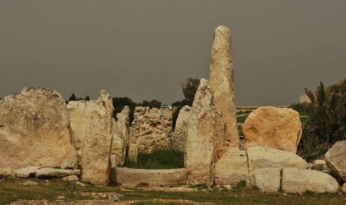 Eine der prähistorischen Tempelanlagen