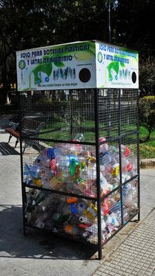 Auch in Tarija wird der Plastik getrennt und gesammelt