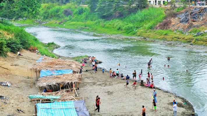 Bad im Fluss