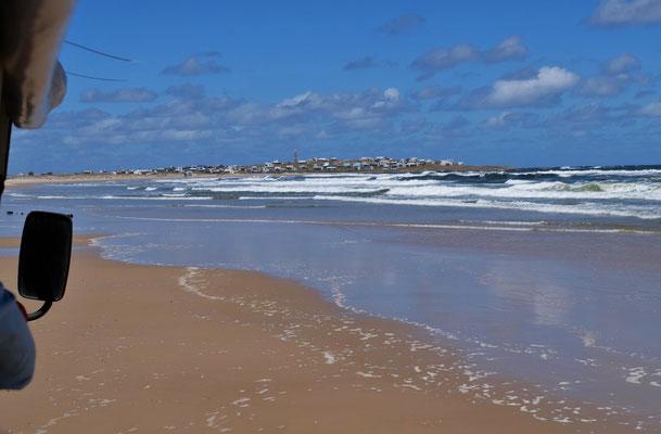 Von hier weg, geht es zwar ruhig aber rasant zum Cabo Polonio