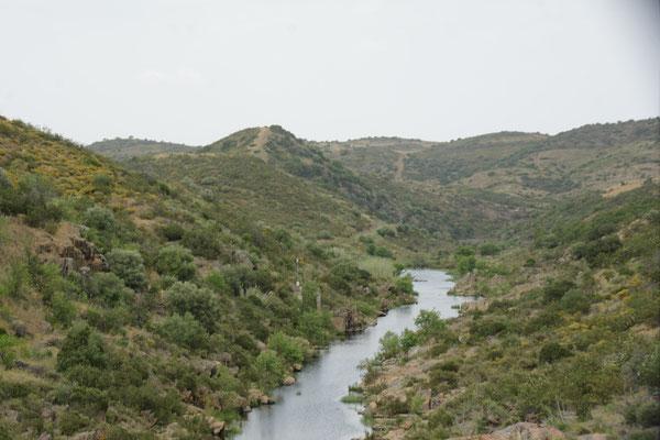 Immer wieder schöne Einblicke in Täler des Guadiana