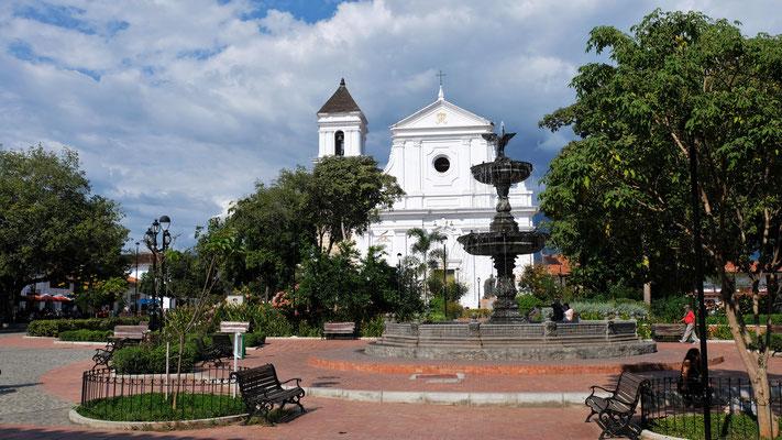 Der Plaza Mayor von Santa Fe